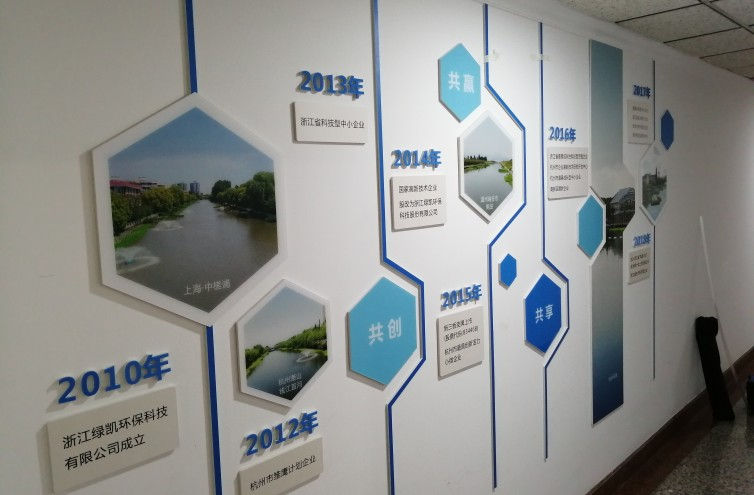 浙江绿凯环保科技公司文化墙制作